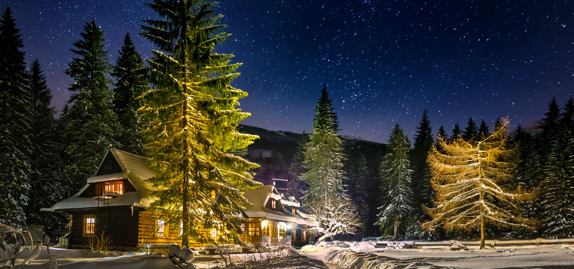 Tatry Dolina Roztoki Schronisko Zimą